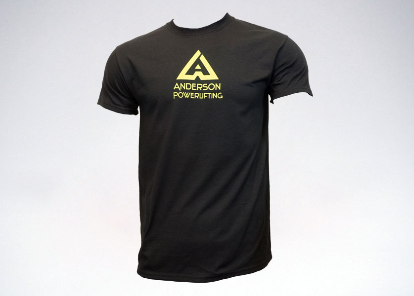 anderson powerlifting new logo t-shirt