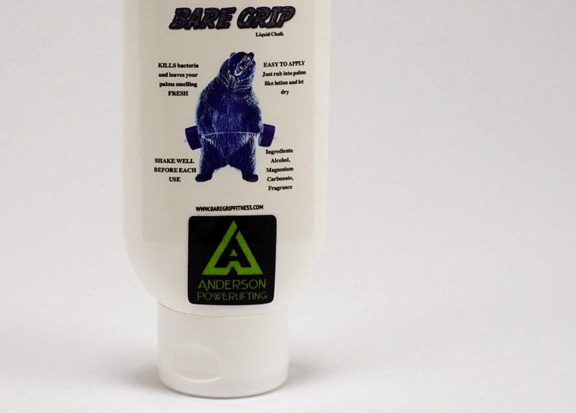 close up of bare grip liquid chalk
