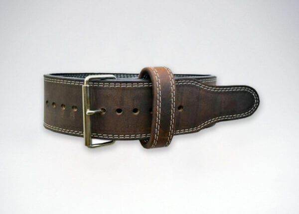 brahma oiled leather single prong belt