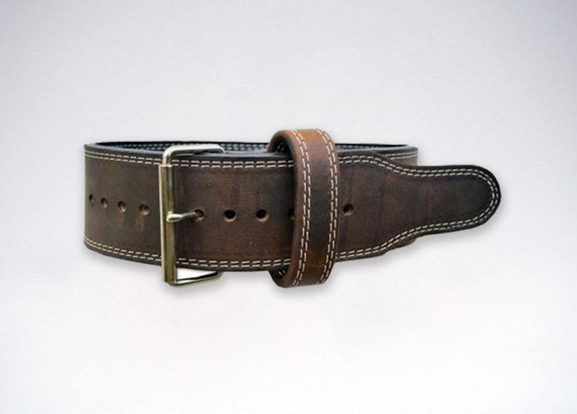 brahma oiled leather single prong belt