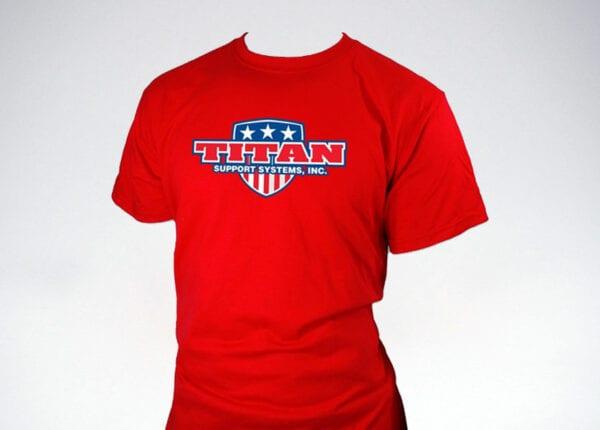 titan patriot t-shirt in red