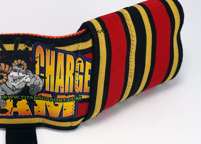 close up of titan supercharge bench press aid