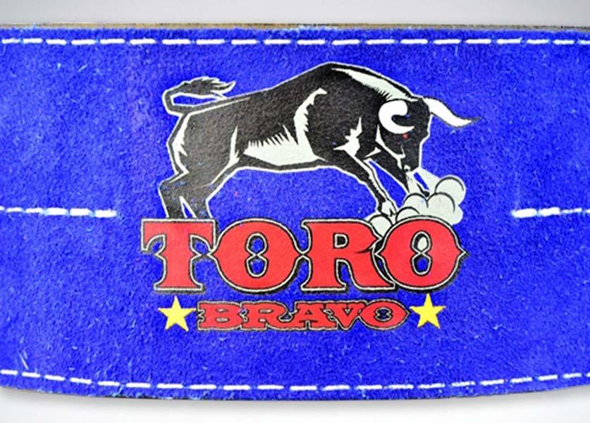 close up of toro bravo single prong belt