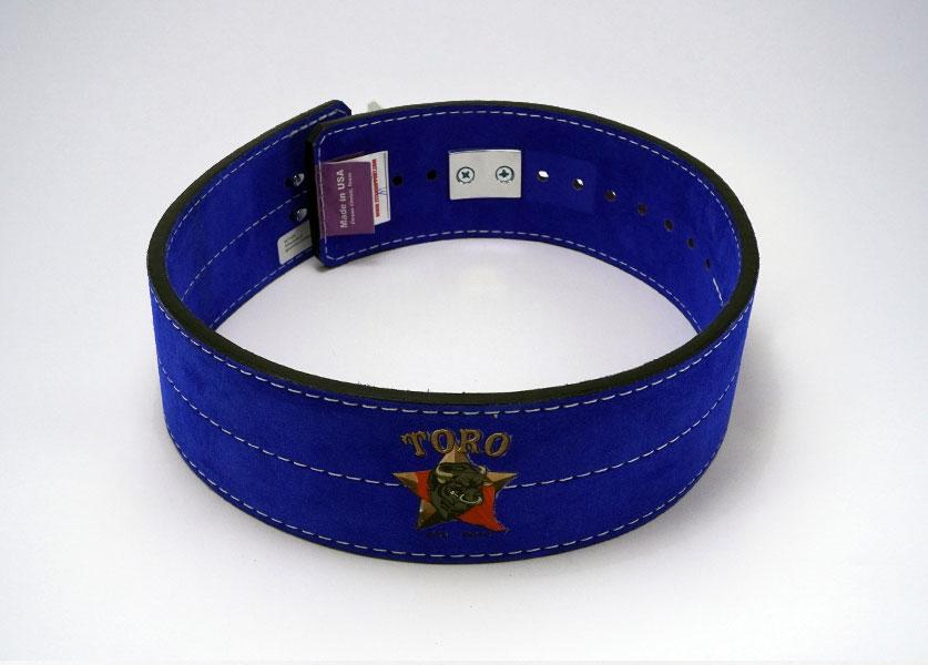 back of blue toro lever belt