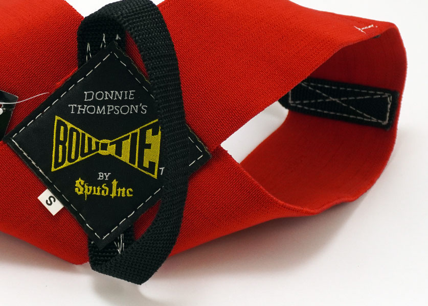 close up of donnie thompson formal bowtie